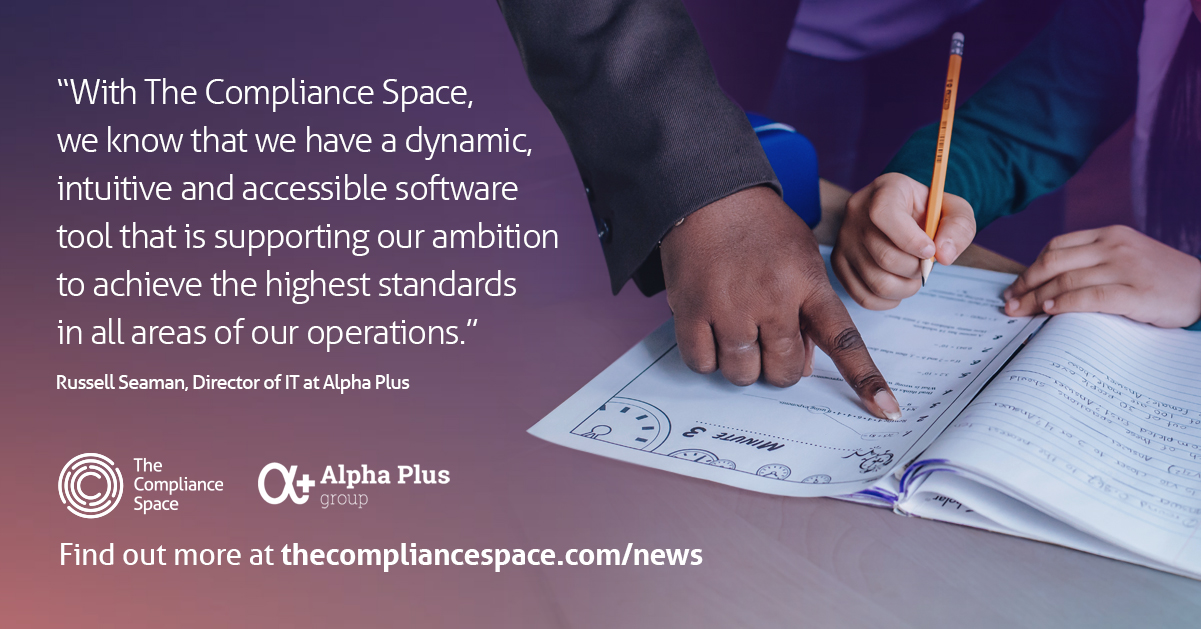 The Compliance Space testimonial - Alpha Plus